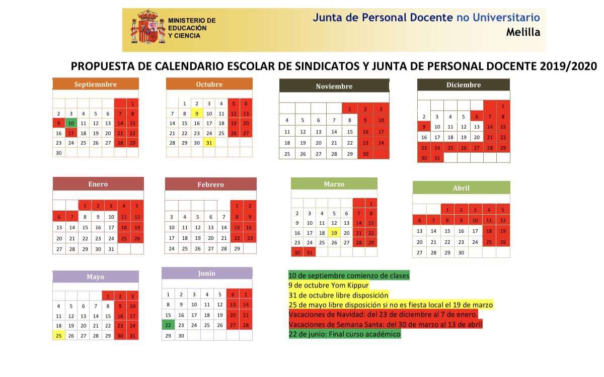 Calendario Universitario.Propuesta De Calendario Escolar Curso 19 20 De La Junta De