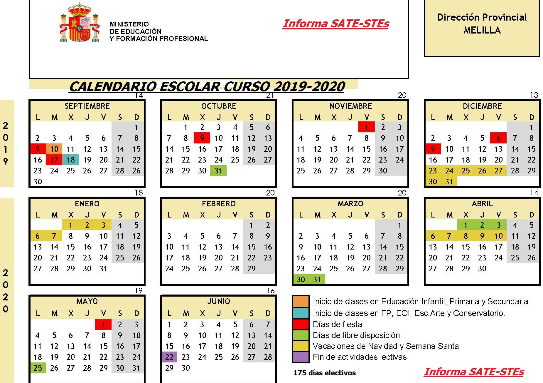 Calendario Escolar 18 19 Asturias.Sate Stes Sindicato Autonomo De Trabajadores De La